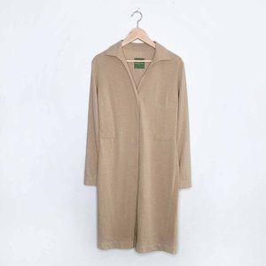 Roberto Verino wool midi shirt dress jacket - 10US